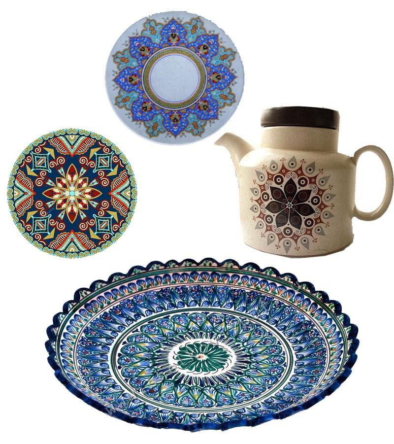 Картинки с узором на посуде